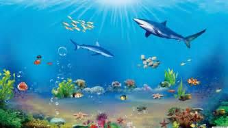 3d Unterwasserlandschaft Hintergrundbild 1920x1080 Hd Kostenlose