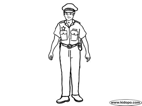 Police Coloring Page Policeman Colouring Pages