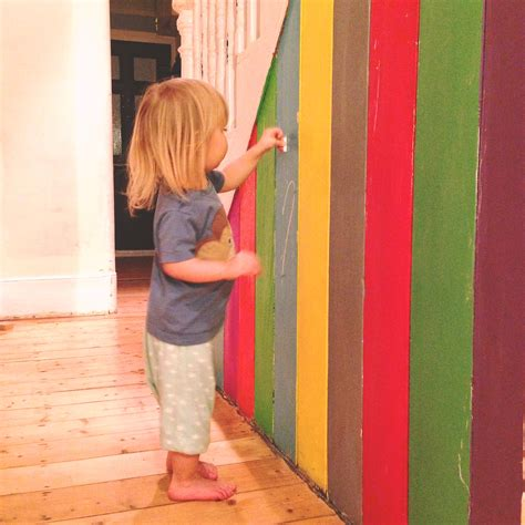 diy chalk paint uk diy rainbow chalkboard wall lulastic and the hippyshake