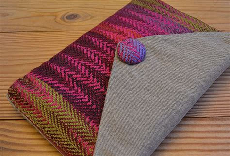 Rag Rug Weaving On A Loom Handwoven Fabric Uses Beautifully Small Weaving Projects