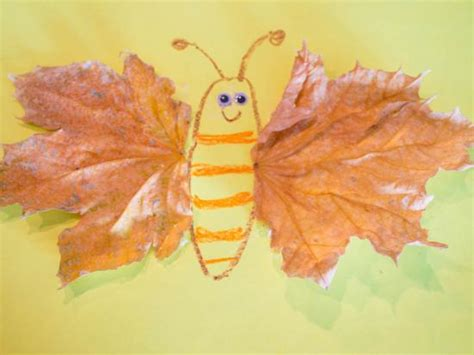 leaf crafts projects leaf butterfly crafts activities for children