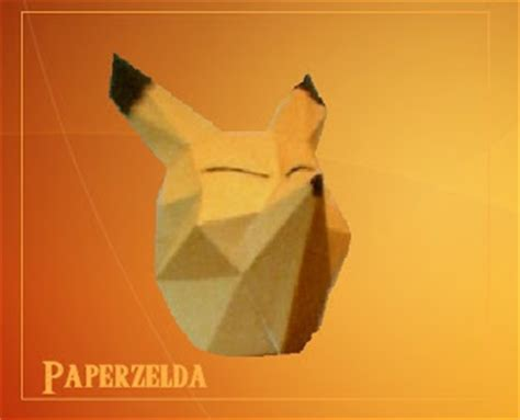Origami Ocarina - wearable keaton mask papercraft papercraft