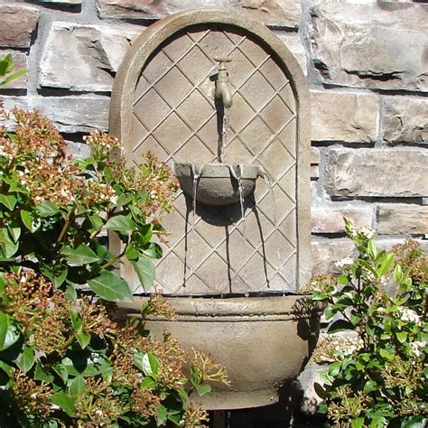 Weathered Bronze Milano Outdoor Wall Fountain