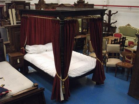 four poster bed curtains sale a351 good quality early victorian four poster double bed