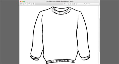 Printable Ugly Sweater Template Pdf Sal Ferrarello Sweater Template