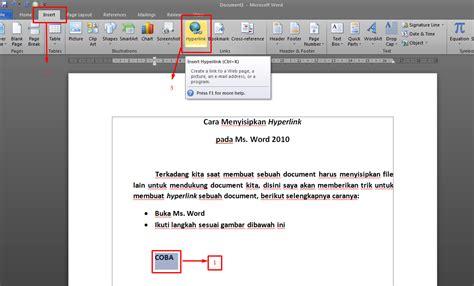 tutorial html hyperlink tutorial menyisipkan hyperlink di word 2010 catatan sang
