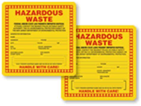 Hazardous Waste Labels Free Hazardous Waste Label Template