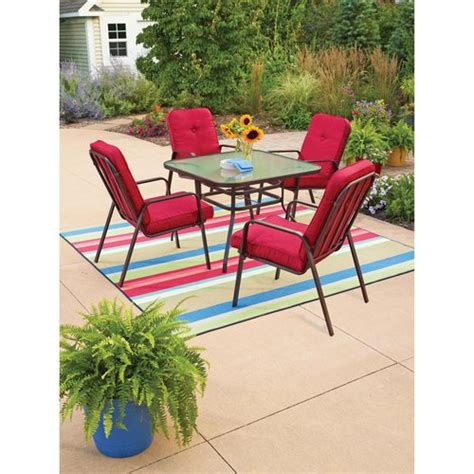 mainstays outdoor furniture mainstays lawson ridge 5 patio dining set patio