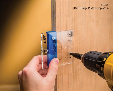 kitchen cabinet hinge template rockler simplifies concealed hinge installation jig it