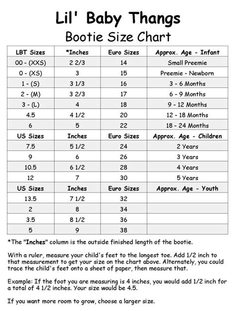 shoe size chart infant 54 best charts images on pinterest knit crochet crochet