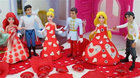 Wedding Magic Clip Dolls by Wedding Play Doh Dresses For Disney Princess Rapunzel