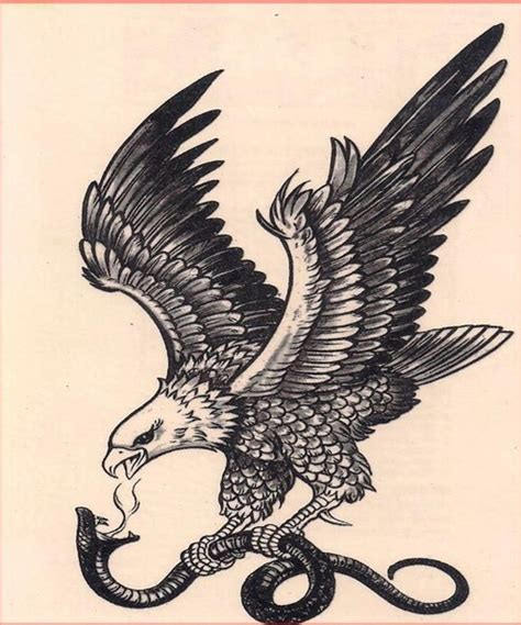 eagle cross tattoos vintage eagle and snake tattoos snake