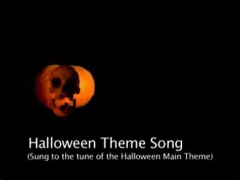 theme songs halloween halloween theme song parody