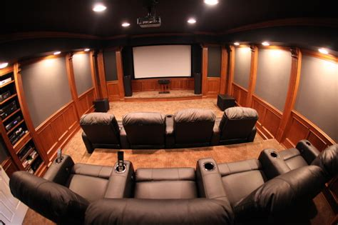 Decorating Over Kitchen Cabinets home theater room traditional home theater detroit