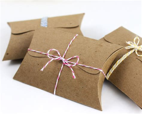 Pillow Boxes with Tab Tuck Closure 10 jewelry packaging