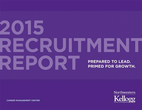 Kellogg Mba Login by 2015 Recruitment Report Kellogg School Of Management By