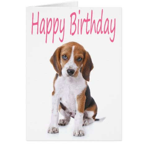 Birthday Card Template For Dogs by Beagle Cards Beagle Card Templates Postage Invitations