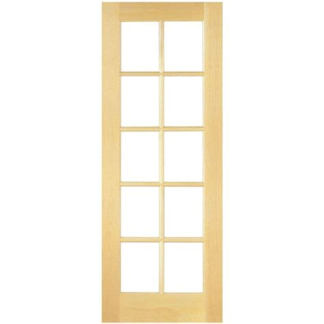 interior french door home depot masonite 24 in x 80 in smooth 10 lite french solid core