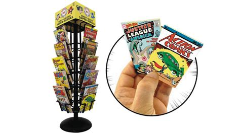 Comic Book Rack by You Can Buy A Tiny Comic Book Rack And Fill It With