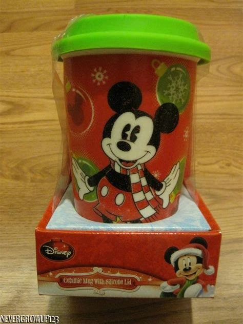 Disney Ceramic Mickey Mouse Travel Mug - disney mickey mouse ceramic travel office mug silicone lid