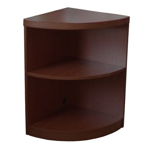 aberdeen 2 shelf quarter bookcase in mocha abq2ldc
