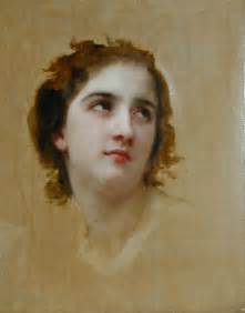 sketch of a young woman william adolphe bouguereau