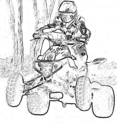 Kids Atv Coloring Pages Coloring Pages Four Wheeler