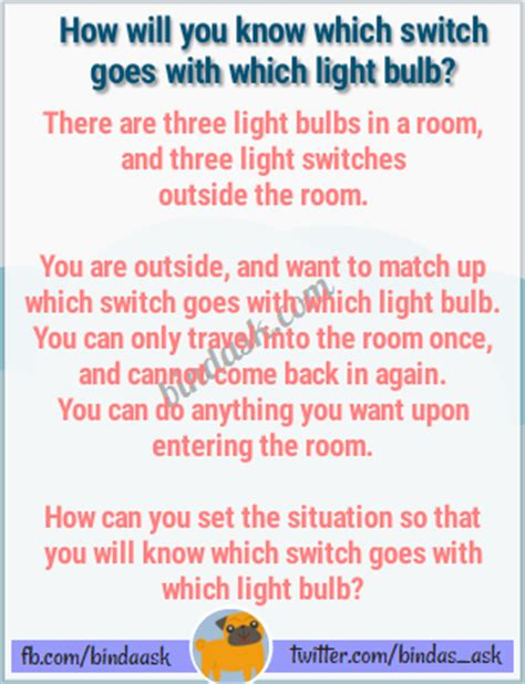 Light Bulb Riddle by How Will You Which Switch Goes With Which Light Bulb
