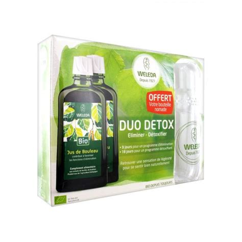 Will Lots Of Detox by Weleda Duo D 233 Tox Jus De Bouleau Lot De 2 X 200 Ml 1