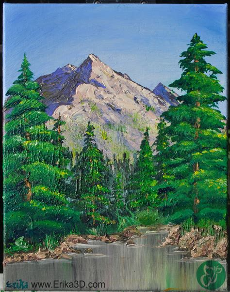 bob ross painting valley view bob ross inspired valley view