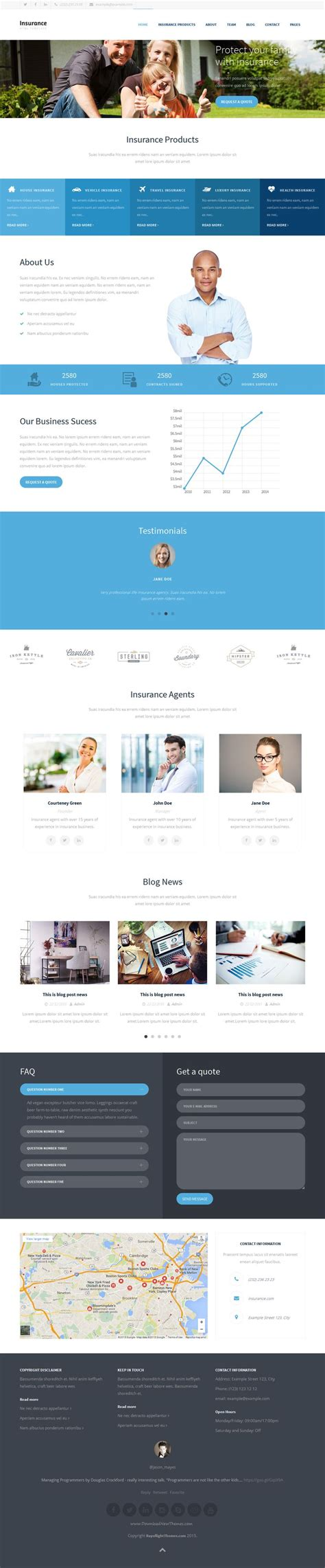 insurance site template insurance agency html5 website template website
