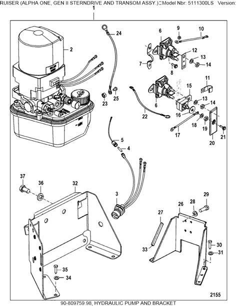 1990 mercruiser trim wiring diagram 1990 get free image