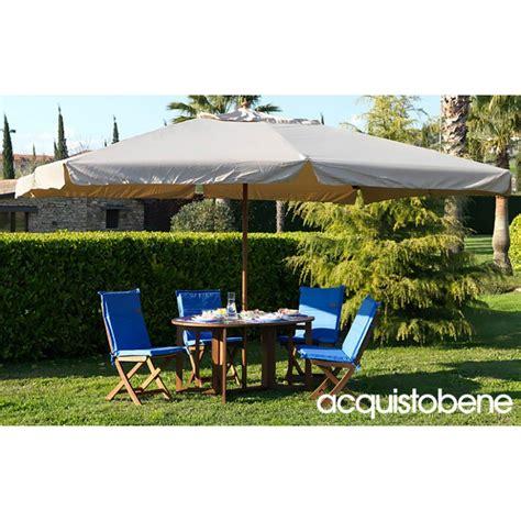 ombrellone per giardino ombrellone giardino 3x4mt in legno pregiato con copertura
