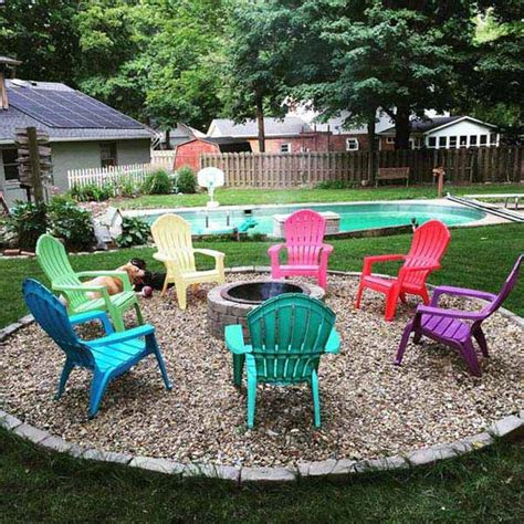 Patio Chairs For Around Pit Build Firepit Area For Summer Nights Relaxing