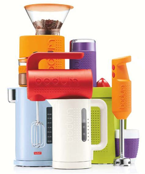 fun kitchen appliances bodum s bistro line of appliances look rugged and cool