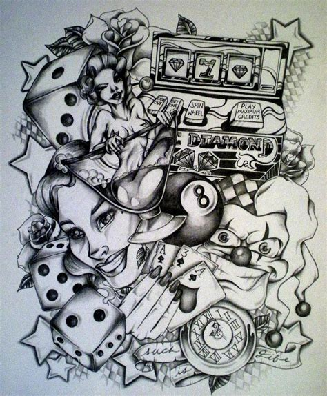 gambling tattoo tattoos designs and ideas page 6