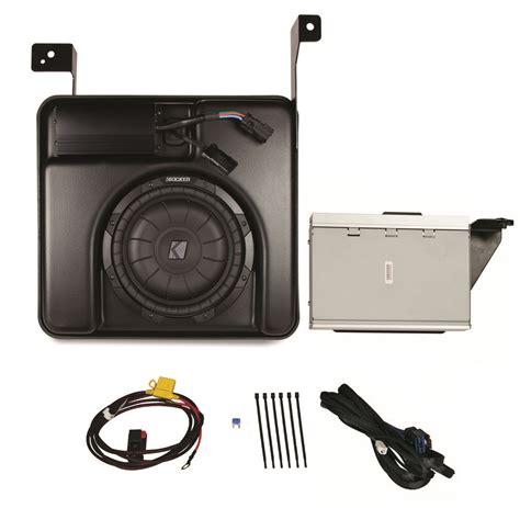 Speaker Gmc 200 Ribu kicker psicre07 chevy silverado 07 up crew factory stereo sub box 4ch 200w