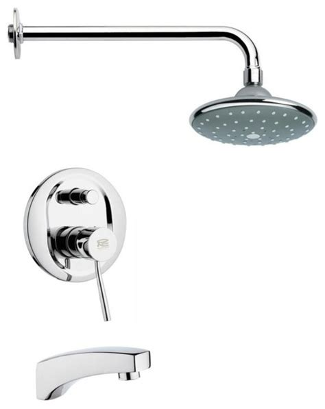 bathroom faucet sets modern polished chrome tub and rain shower faucet set