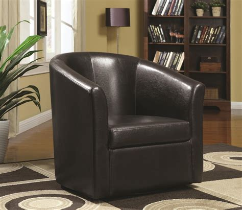 coaster 902098 brown leather swivel chair a sofa