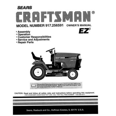 917 256591 15 5 Hp Owner S Manual Sears Craftsman 4 95