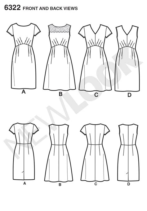 pattern review new look 6322 new look 6322 misses dress with bodice and skirt variations