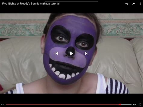 youtube tutorial video ideas five nights at freddy s bonnie makeup tutorial youtube