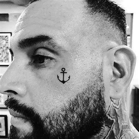 small face tattoos for men 50 small creative tattoos for unique design ideas