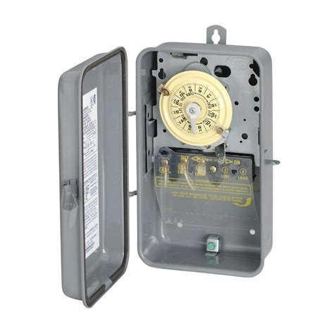 Outdoor Electrical Timers For Lights Intermatic T101r Spst 24hr 40a 2hp Timer 125v Outdoor Enclosure Lowe S Canada