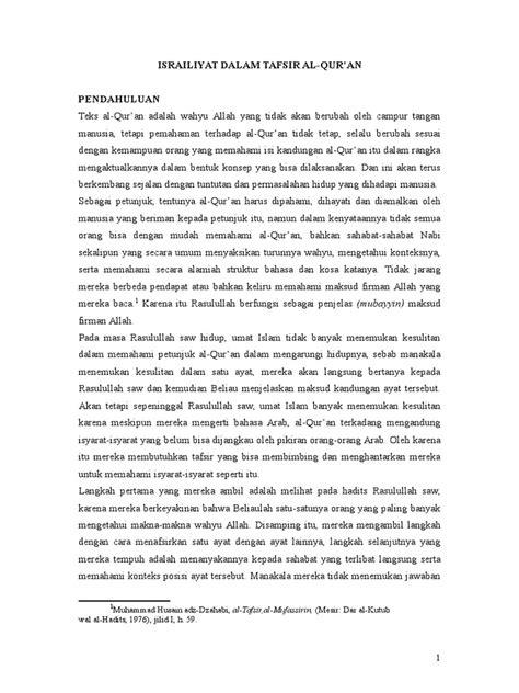 Tafsir Al Qurthubi Jil 2 israiliyat dalam tafsir al