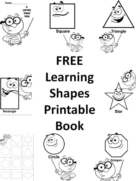 free printable learning shapes free learning shapes printable book