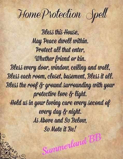 home blessing spell digital  book  shadows pages