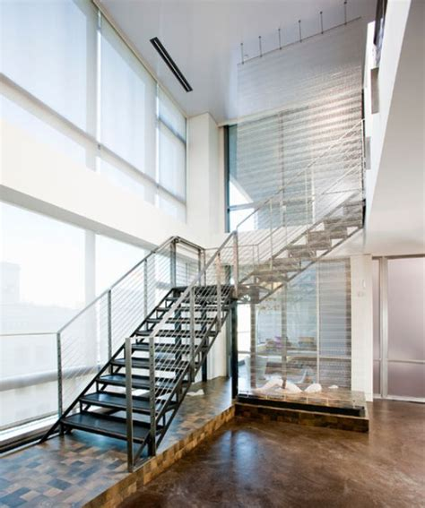 Steel Staircase Design Modern Handrail Designs That Make The Staircase Stand Out