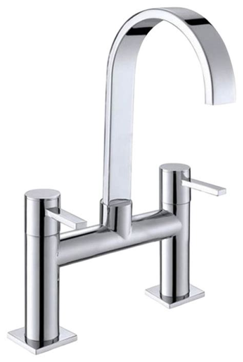 double handle long neck brass chrome plated waterfall
