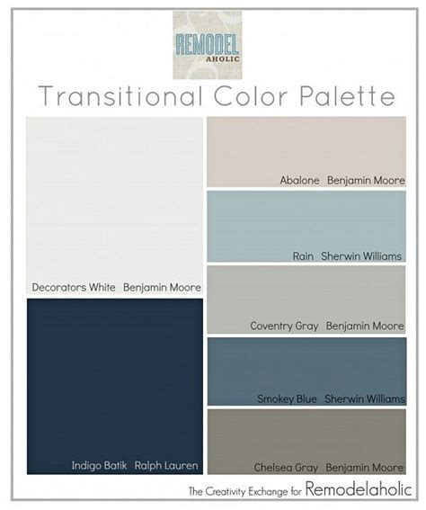 Paints Color Palette Interior interior paint palettes 4 transitional paint colors